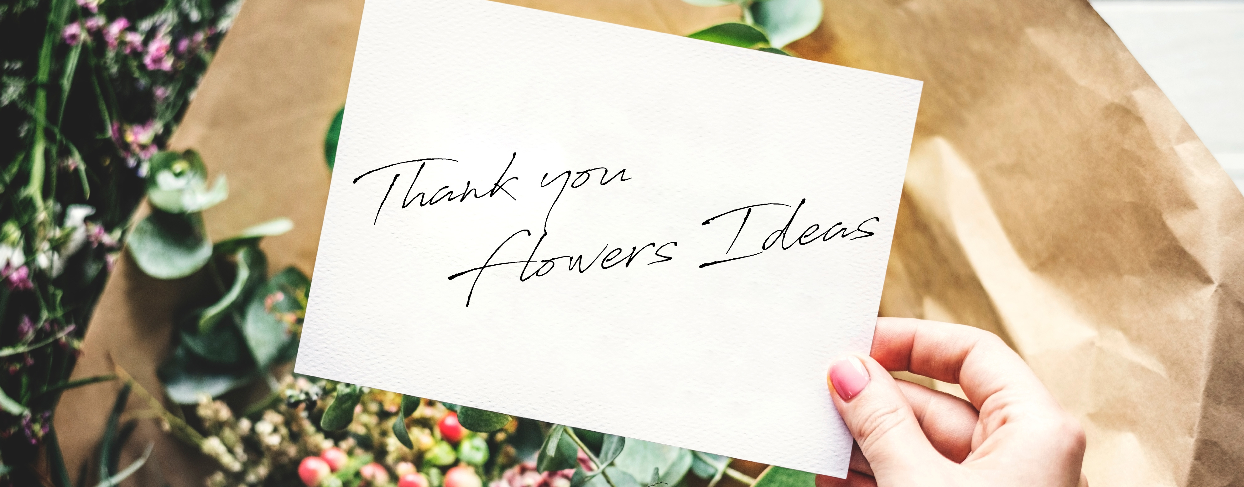 HThank You Flowers Idea