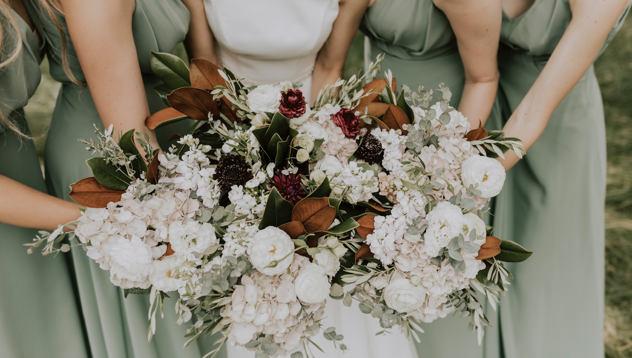 Diy Wedding Bouquet With Fresh Flowers